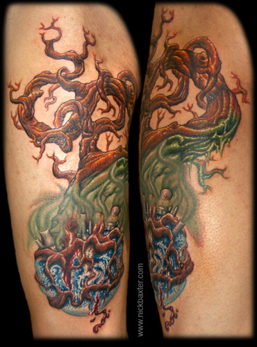 Tattoos Earth Tree