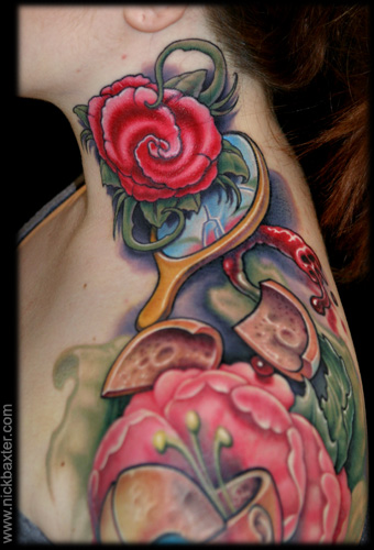 flower tattoos on shoulder. Tattoos gt; Flower tattoos