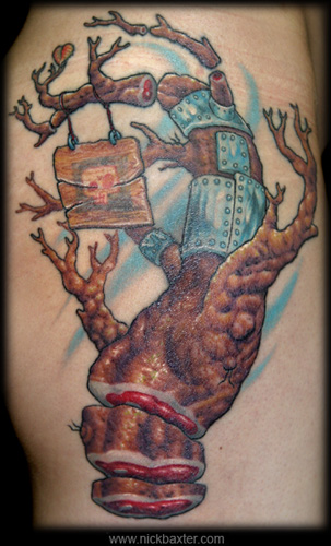 Postmodern Family Tree tattoo by Nick Baxter and Adrian Dominic