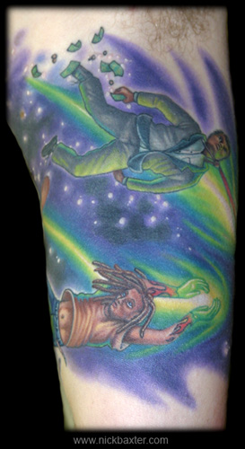 Looking For Unique Realistic Tattoos Shooting Stars Half