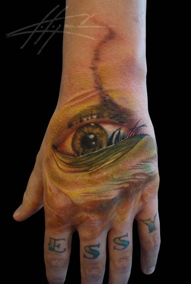 Looking for unique Color tattoos Tattoos? Eye hand Tattoo
