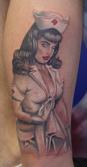 Off the Map Tattoo : Tattoos : Color : Nurse Bettie