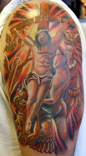 tattoos of jesus on cross. Religious Jesus Tattoos