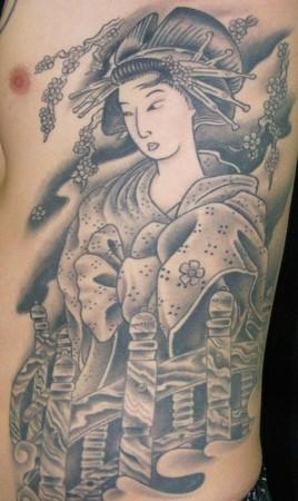 Lady on a brige tattoos for Cedar springs tattoo
