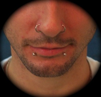 Double Nose Piercing Both Sides
