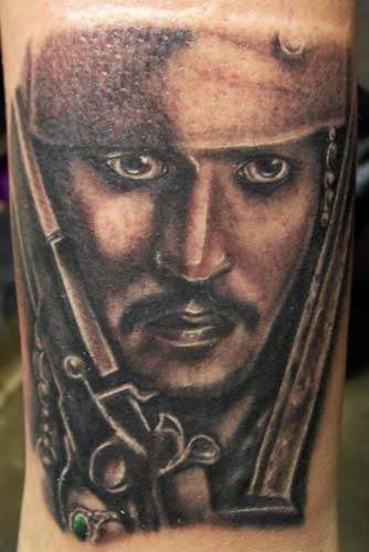 Carlos rojas captain jack sparrow tattoo for Captain jack sparrow tattoo