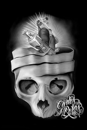 Tattoshirts on Looking For Unique Carlos Rojas Art Galleries  Machine Skull Art