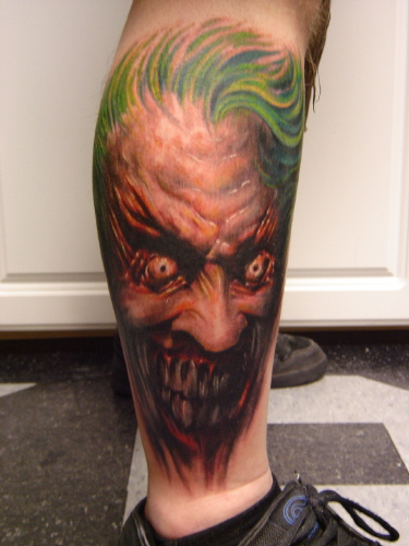 Looking for unique Paul Acker Tattoos? Joker. click to view large image