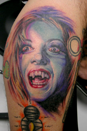 Looking for unique Tattoos? Vampire Girl. click to view large image