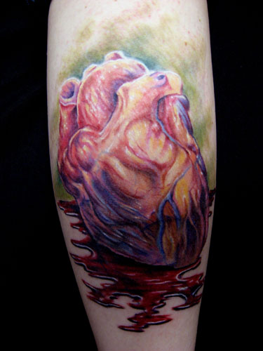 Flaming black heart tattoo. Rose tattoo design with black heart.