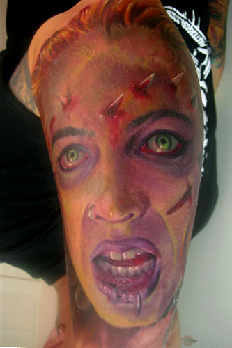 Looking for unique Tattoos? Zombie Girl. click to view large image