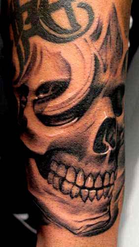 skull tattoo pictures. Skull tattoo