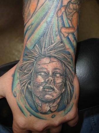 Hand job tattoo