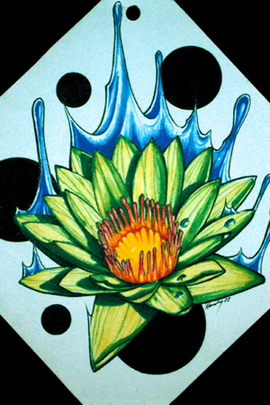water lily. Comments: prismacolor markers. Randy Prause - water lily