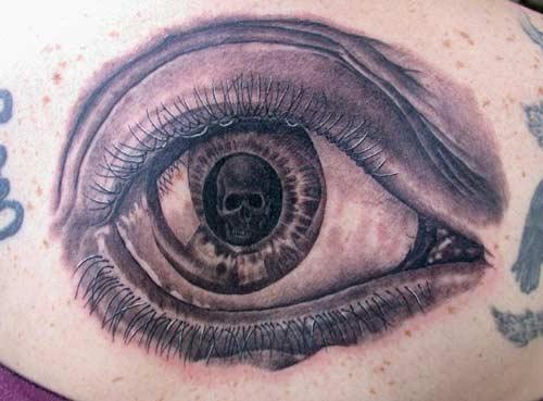 Keyword Galleries: Black and Gray Tattoos, Evil Tattoos, Skull Tattoos