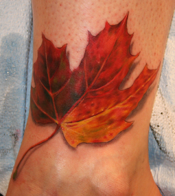 leaf tattoo by Tattoo Culture. By Gene Coffey at Tattoo Culture