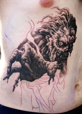 zombie tattoo. Evil Zombie Tattoos