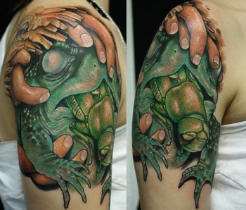 Frog And Locust Tattoos