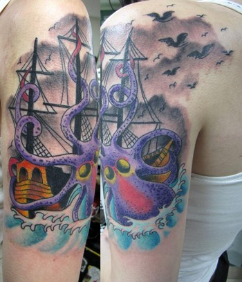 traditional tattoos. Ship Traditional Tattoo