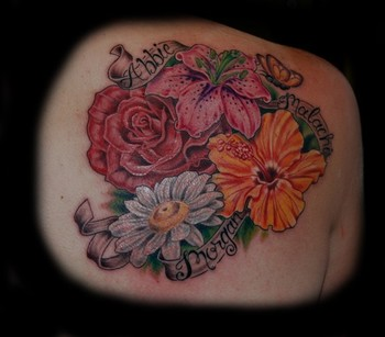 Daisy Flower Tattoos on Off The Map Tattoo   Tattoos   Dee Dee   Flowers