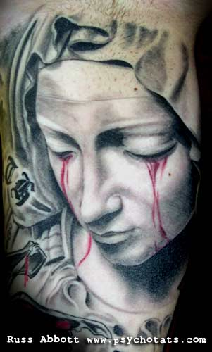 pin religious tattoos madonna virgin mary arm on pinterest. Black Bedroom Furniture Sets. Home Design Ideas