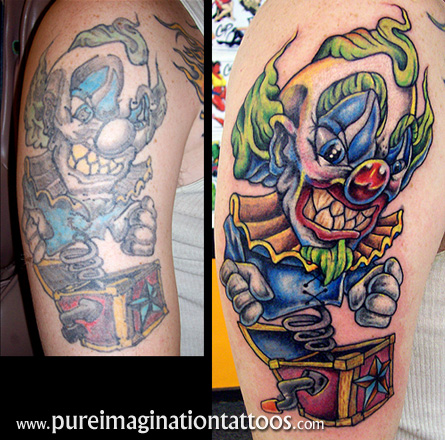 clowns tattoos katy perry buzz. Black Bedroom Furniture Sets. Home Design Ideas