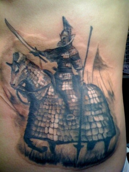 Looking for unique Tony Olivas Tattoos? Horse and Knight Tattoo