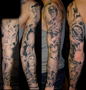 Angel Tattoo Arm Sleeve