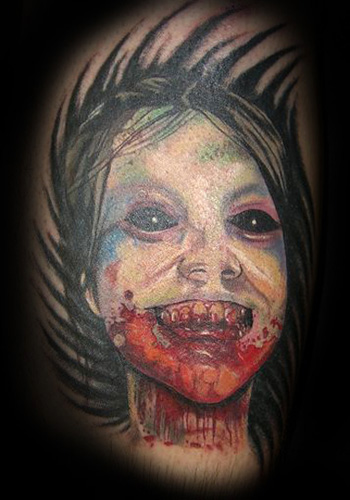 Secret Lake Tattoo : Tattoos : Evil Death : Zombie Girl