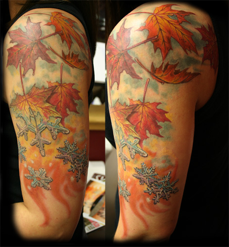 Jesse rix fall to winter for Fall tree tattoo