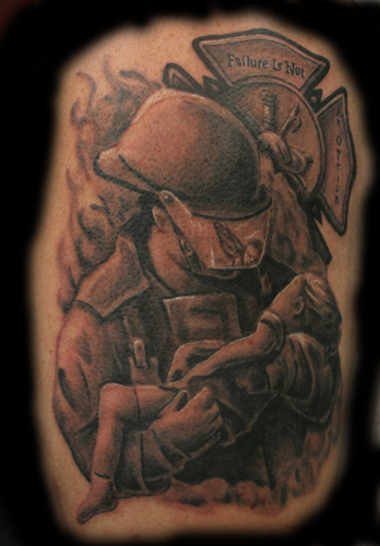 Nate Euvard Firefighter Keyword Galleries Religious Tattoos