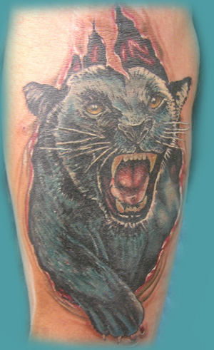 Panther tattoos are also said to represent freedom from oppression and rules