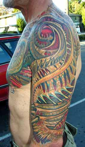 Off the Map Tattoo : Tattoos : Jeff Croci : Bio-Organic