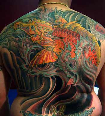 Tattoos > Jeff Croci Page 2 Koi Dragon