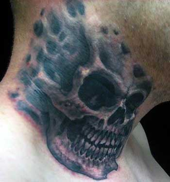 skull head tattoos. Severed Head Tattoos,