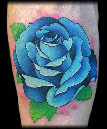 Rose Tatto on Jeff Ensminger   Blue Rose