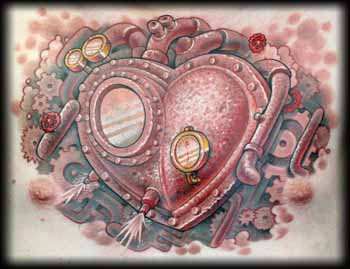 Looking for unique Tattoos  Steam powered heartReal Metal Heart Tattoos