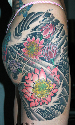 water lily tattoo. water lilies