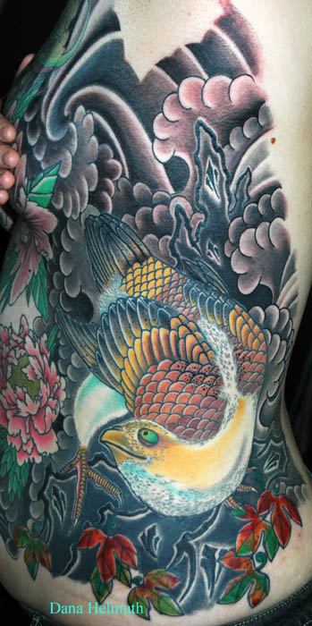 ivy tattoo. Dana Helmuth - falcon and ivy