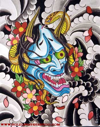 Hannya Tattoo, background soon… Looking for unique Art Galleries? hannya