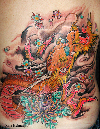 Labels: Japanese Dragon Tattoo Design Color
