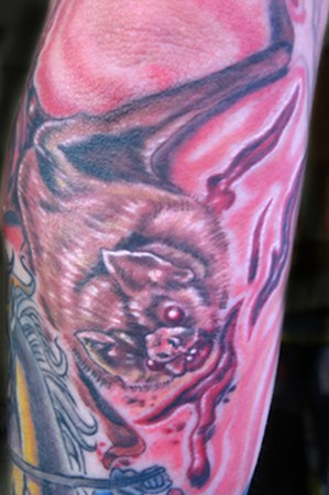 Phil Robertson - Vampire bat tattoo