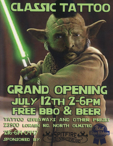 Grand Opening Party, Classic tattoo cleveland