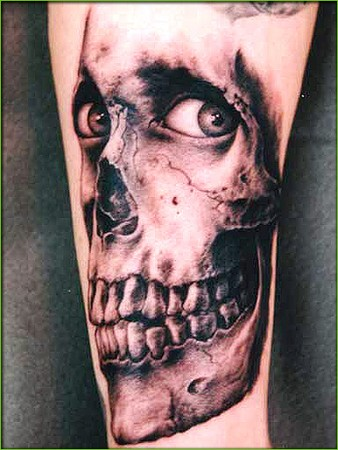 skull tattoo on back. Skull Tattoos Gallery.