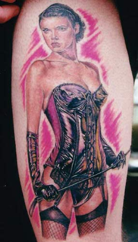 Devil Girl Pinup Tattoo 3. Not only is she opposite in meaning,