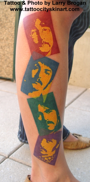 beatles tattoos. a fun tattoo that I did at
