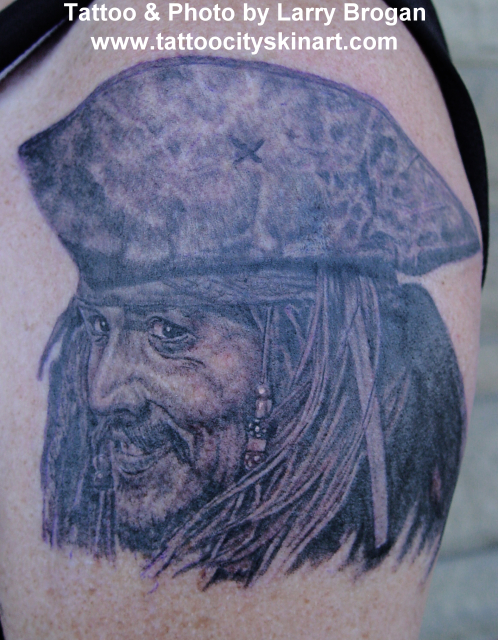pirates of the caribbean jack sparrow tattoo. Jack Sparrow from Pirates