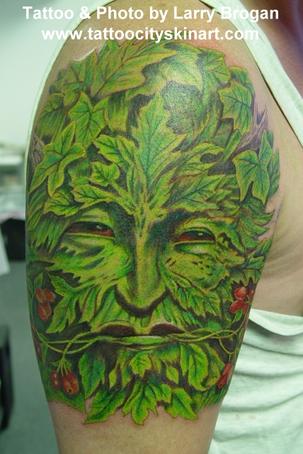 Green Man tattoo James's Green Man Page 326 : Green Man). eva green thirteen