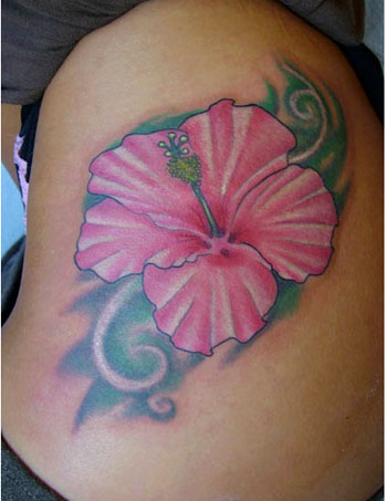 hibiscus flowers tattoos. good sized hibiscus flower