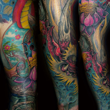 japanese dragon tattoo sleeve. dragon tattoo sleeves dragon